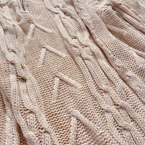 Leo & Nicole Sweaters - Leo & Nicole Chunky Cable Cozy Blush Pink Sweater
